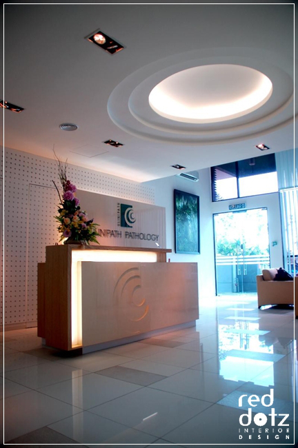 medical laboratory office reception design 1