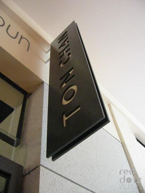 Ton Chan Japanese Restaurant signage design 1