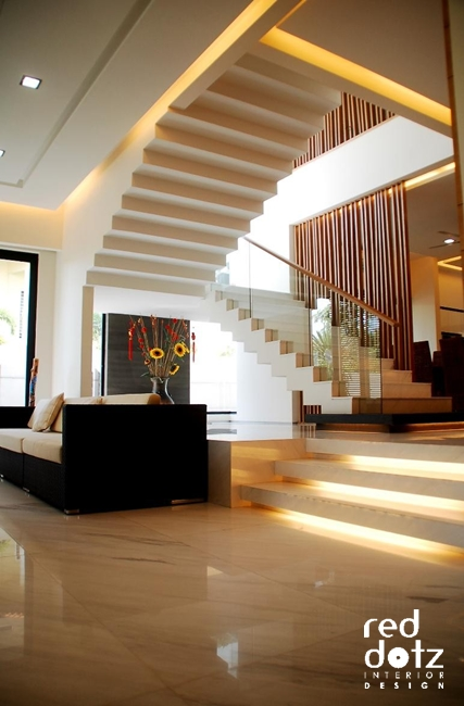 usj residence living room staircase design