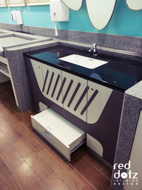 baby room washing counter design