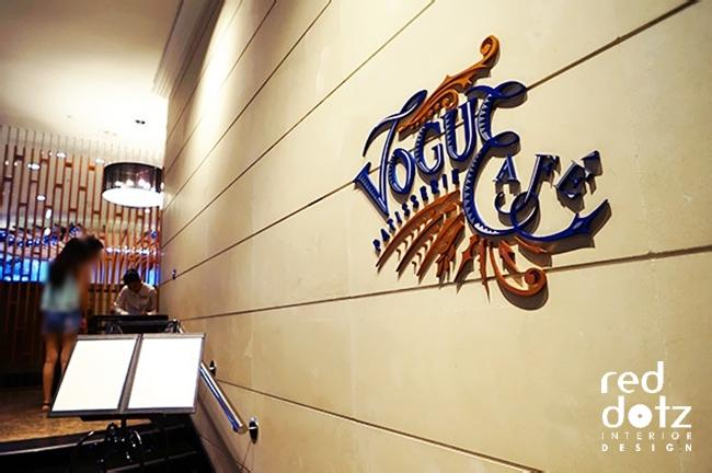 vogue cafe signage design Kuala Lumpur Malaysia