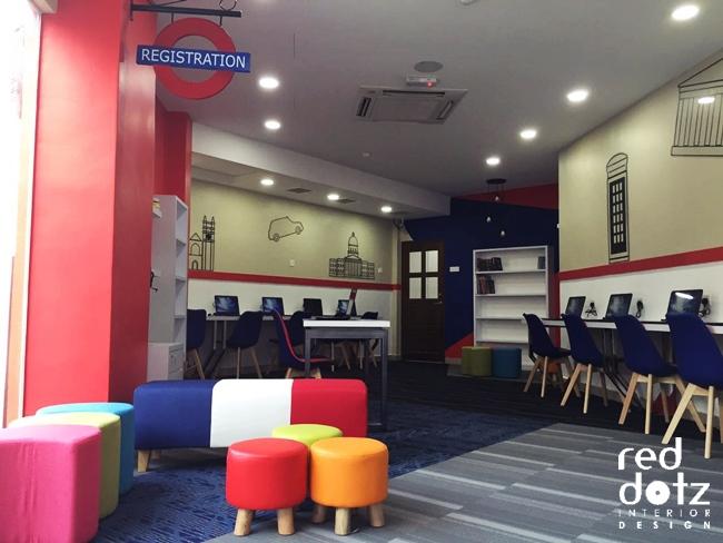 GELC English Language Lounge Interior Design Perak Malaysia