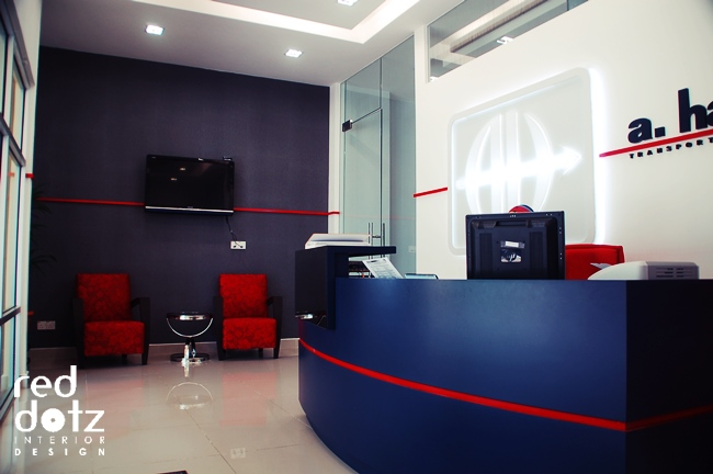 hartrodt office reception design setia alam malaysia